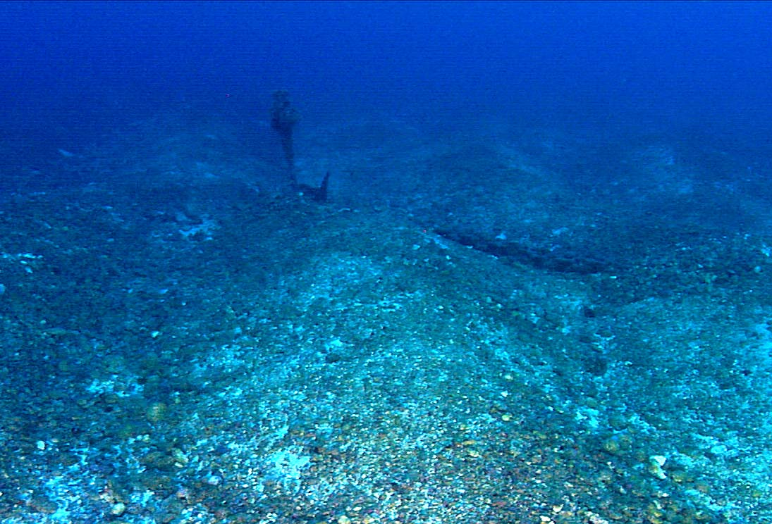 Large Anchor On The Sea Floor At Bright Bank