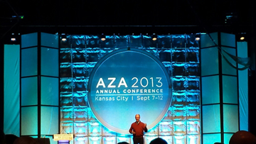 Dr. Ballard giving a presentation at the AZA Conference