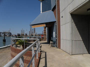 Outside entry to the Texas Seaport Museum.