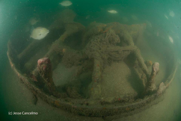 Bow section of USS Hatteras wreck.