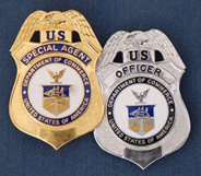 Two Department of Commerce law enforcement badges