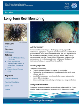 Front page of Stetson Monitoring lesson