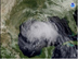 Satellite photo of hurricane Ike in the Gulf of Mexico