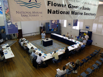 SAC meeting in progress at the sanctuary offices