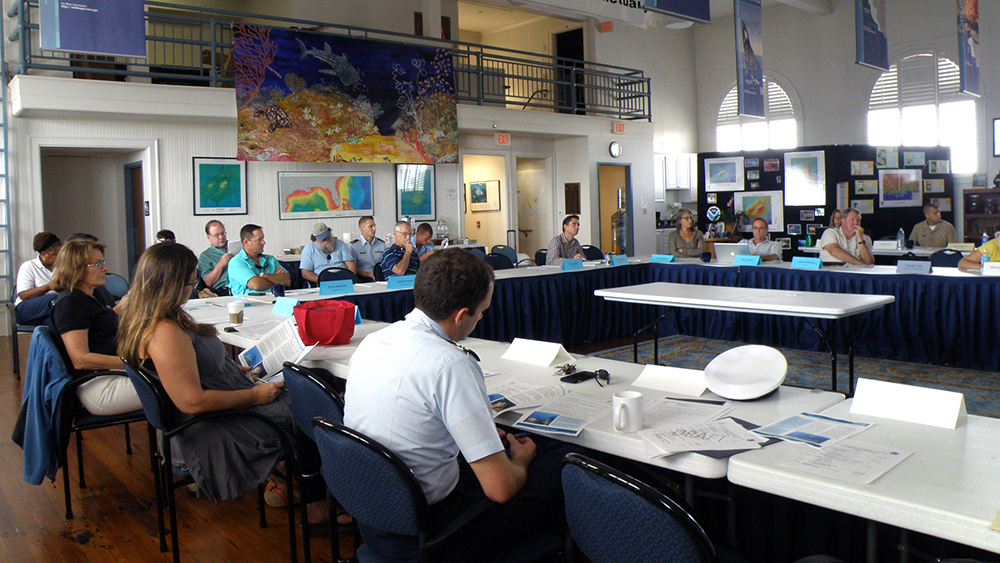 A national Marine Sanctuary council meeting
